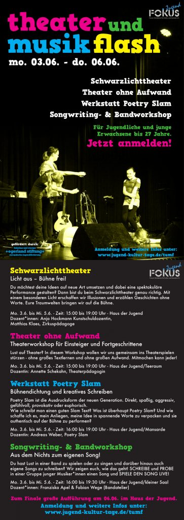 Theater und Musik Flash 2019 Osnabrück